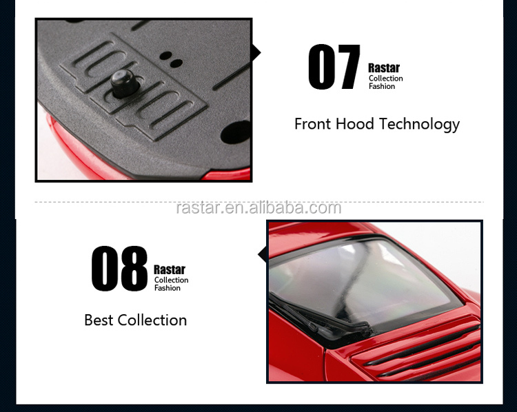 Porsche visible inner car decorations model RASTAR 1:24 scale metal car collection model