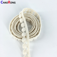 1.2CM CRTX1140 Cheapest Cotton <strong>Embroidery</strong> <strong>Lace</strong> Trim pompom <strong>Lace</strong>