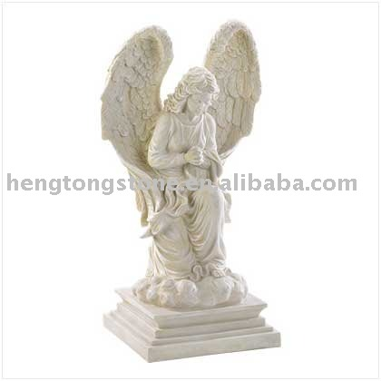 Religious white Marble Angel Statue