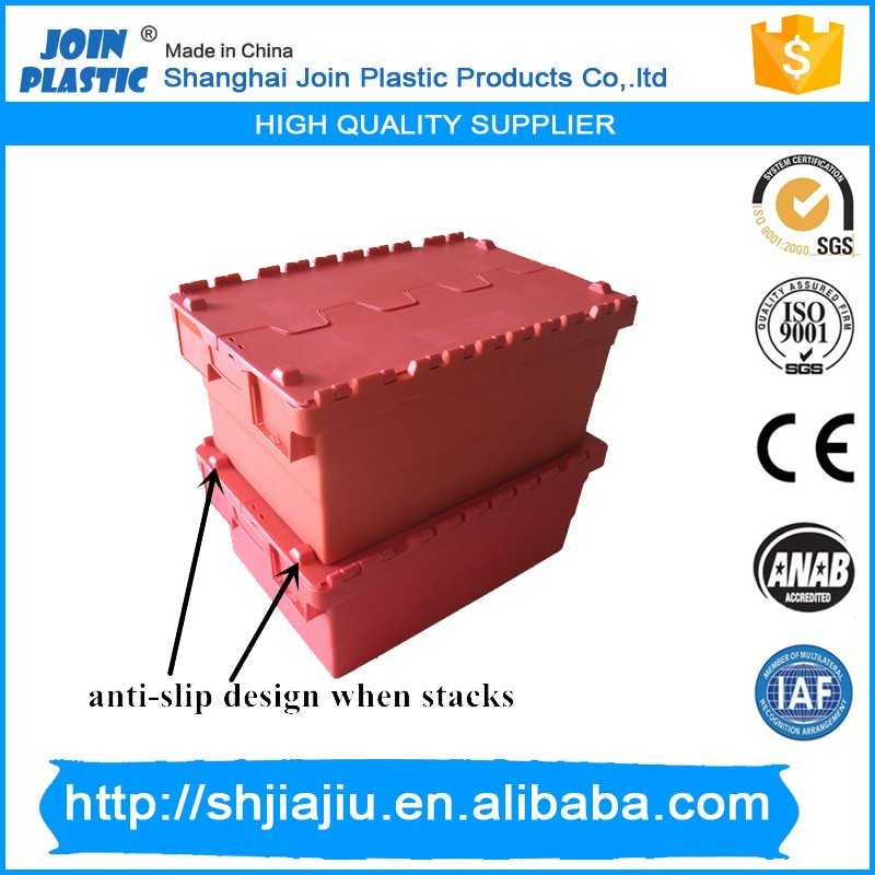 industrial storage plastic box solid for sale