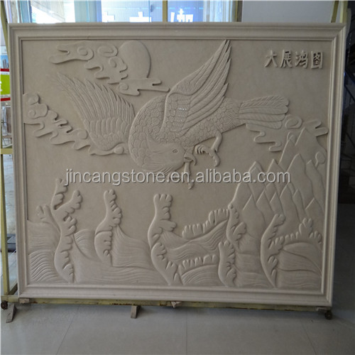 Cheap natural marble carved stone birds