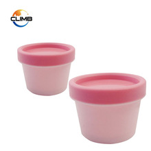 Wholesale Plastic Cosmetic Containers pink face mask jar,PP mask Cream Jar