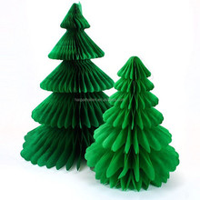Christmas Tree Honeycomb Party Table Tissue Paper Centrepiece Decoration