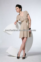 located butterfly belt ladies Dress summer dress elegant