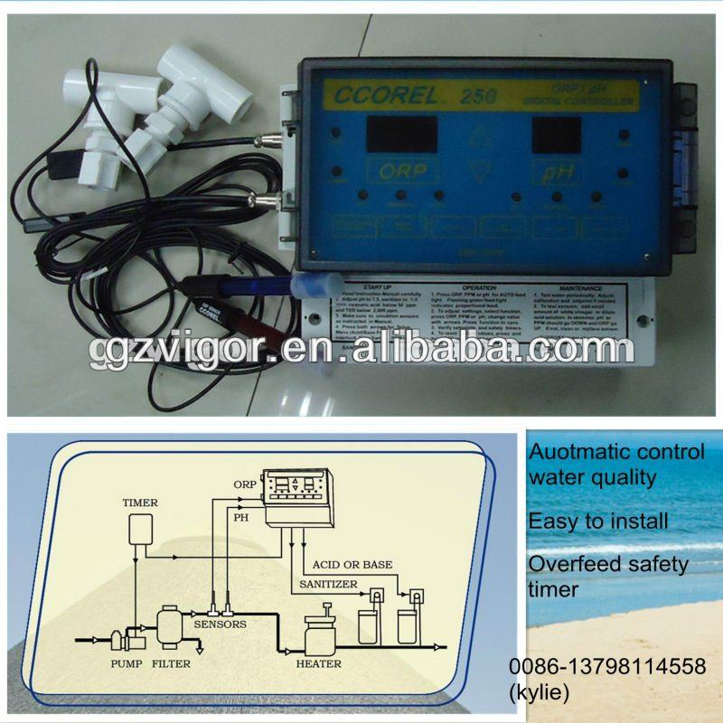 PH/ORP pool control system, for cleaner and safer pools and spas