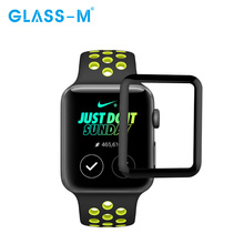 Premium Full Cover Tempered Glass Screen Film for Apple Watch Protector