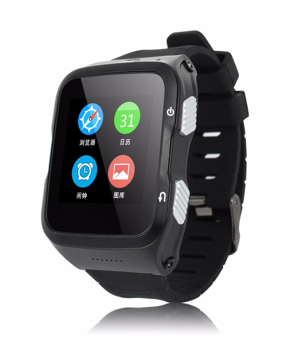 S83 smart phone watch for Android bluetooth 4.0 music player TPU watch band