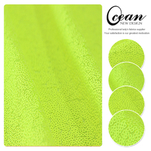 Ocean Textile Bright 3mm Neon Yellow Sequin Fabric