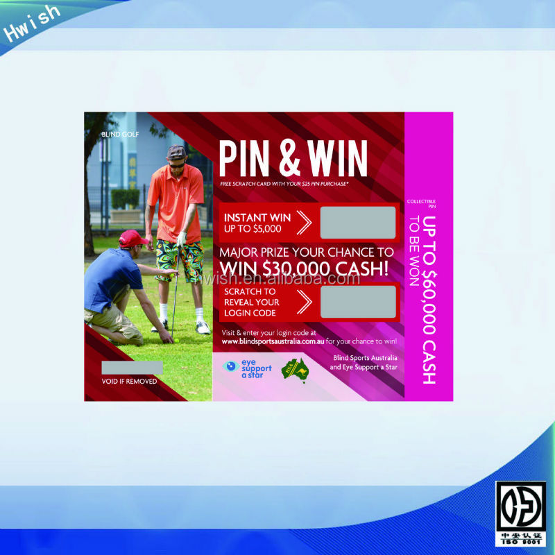 scratch and win ticket