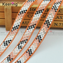 Keering Hot sale fix rhinestone adhesive tape Garment decorated accessory Fashion crstal tape