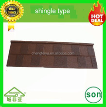 soncap shingle type colorful stone coated metal roofing tile
