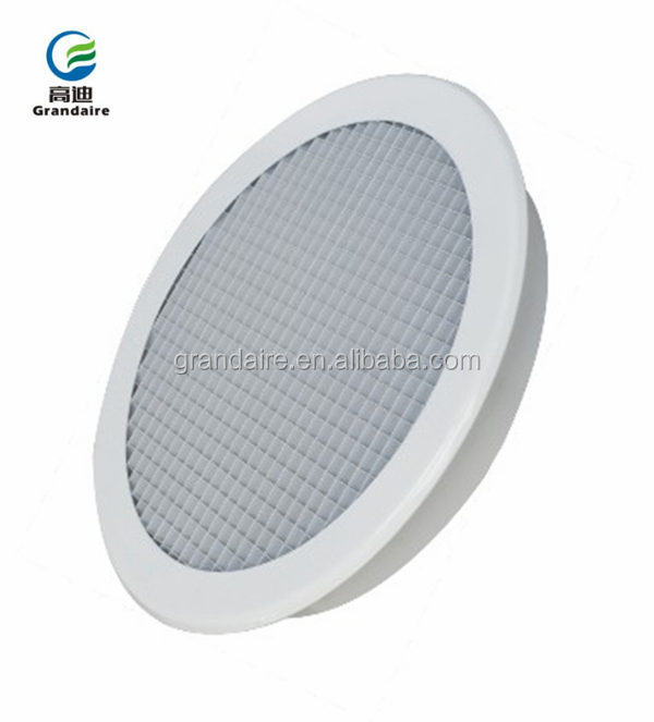 Air Condition Round Diffuser Aluminium Egg Crate Grilles in 12.7*12.7*12.7mm Core