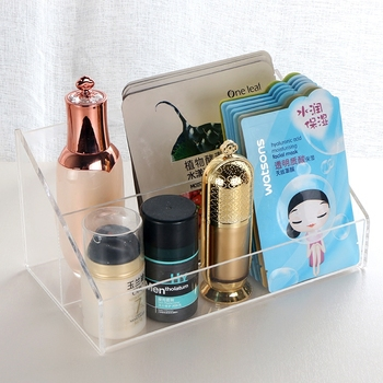 wholesale transparent  acrylic facial mask organizer makeup storage box