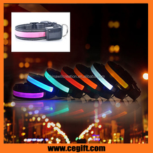 ECO-friendly flashing Dog Collar led Safety necklace for outdoor night use