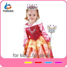 Kids fashion costume girls party princess dresses for girls of 7 years old