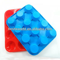 3oz 12 pieces cups silicone cupcake form silicone bakeware
