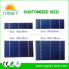 Customized size 156x78 MM 0.5V 2.1W PV broken solar cell with lowest price many pieces in stock