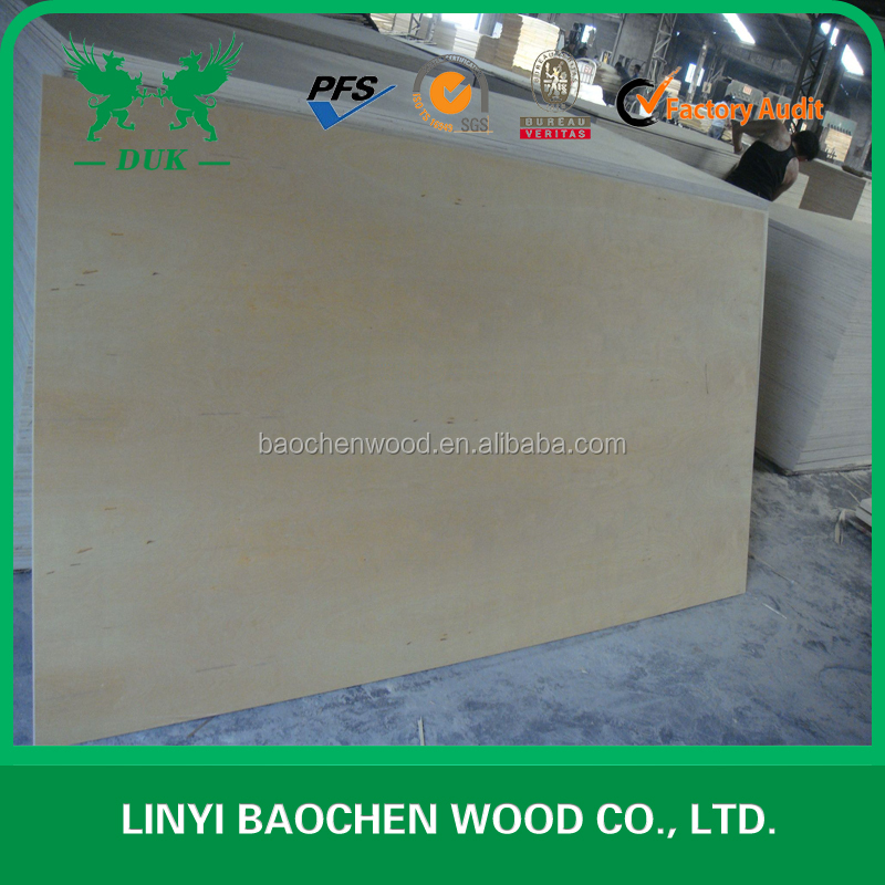 High Quality 3mm 5mm baltic birch plywood