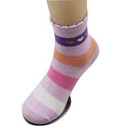 GSC-40 Bulk wholesale colorful striped design cotton sexy young girl tube socks