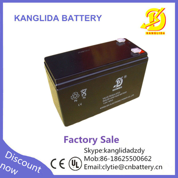 free maintenance 12v 9ah 20hr rechargeable sealed lead acid battery