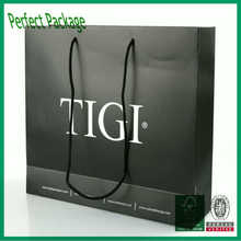 Luxury Black coated paper bags for shopping