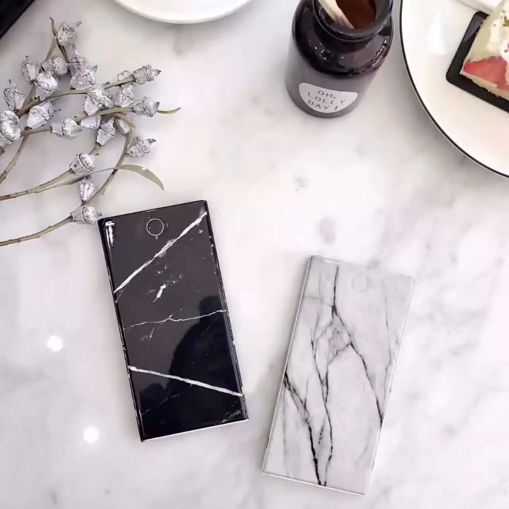 Marble Effect Mobile power Customer made Slim bank power 10000 mah Fast Charging battery for phone for iPad