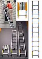EN131 european standard aluminum telescopic ladder electrical