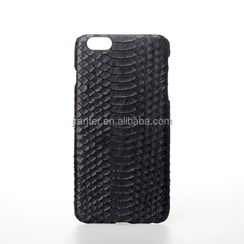 Custom Design 100% Real Python Leather Cover Case for iPhone 6 Cover Printing