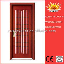 Bedroom wooden door design picture with lacquer sliding door