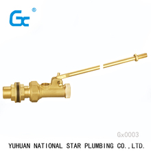 High quality balance Water tank Brass float ball valve with plastic ball