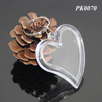 LOVE Heart Shape Transparent Acrylic Picture Frames Keyring Birthday Wedding Gifts Clear Plastic Acrylic Keychains