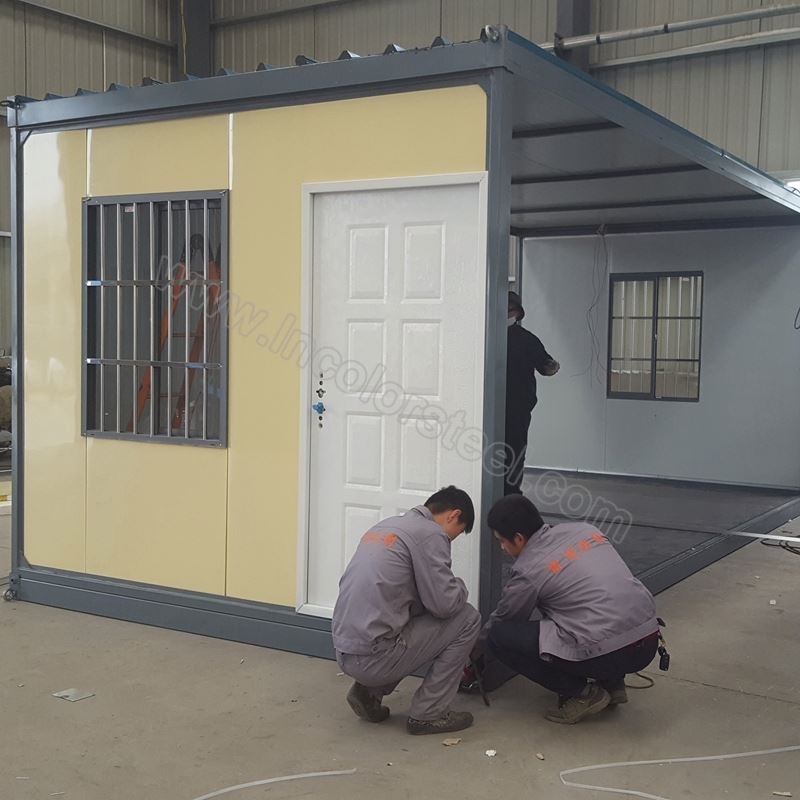 Insulated sandwich panel modular homes prefab house portable toilets for sale