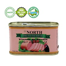 quality Chinese supplier halal chicken production canned chicken luncheon meat