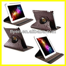 Crocodilian Leather Rotation 360 Leather Case Suit for iPad 2 3 4 Smart Cover Wth Magnetic Sleep/Wake UP Function Wholesale Good