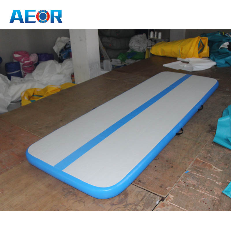 Yellow square mat mini inflatable board pad,used air gym track for sale