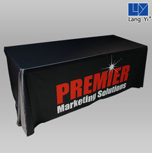 Wholesale Promotion Trade Show Cheap Polyester Table Cloth Used