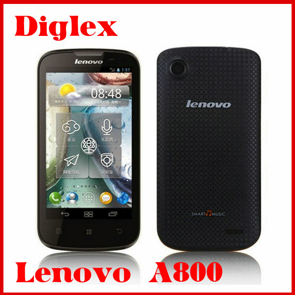 Lowest price high quality lenovo a800 andriod 4.0 mtk6577 dual core 512mb 4gb single camera dual sim wcdma gsm phone
