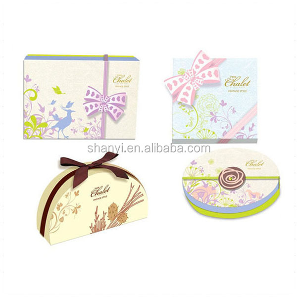 white green red Pink Pretty 9pcs Lid Connection Paper Divider Insert Chocolate Packing Box With Cushion Pad