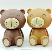 buy bear shaped plastic coin bank, customize bear and rabbit piggy bank, oem cartoon bear money box