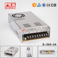 CE Approval High Quality and Efficiency 350W 24V 12v 15 Amp Power Supply/led driver