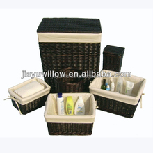 cheap suitable black wicker laundry baskets