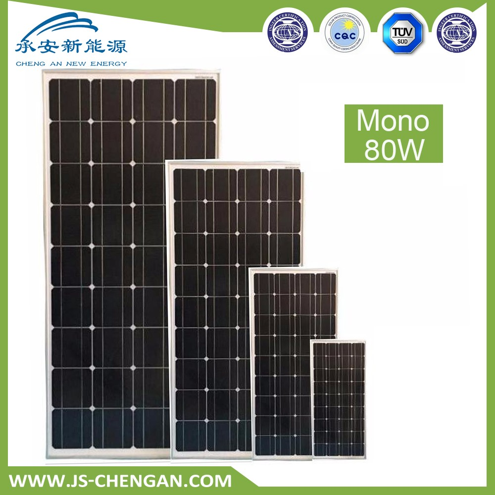 80w monocrystalline solar power panel tracking system