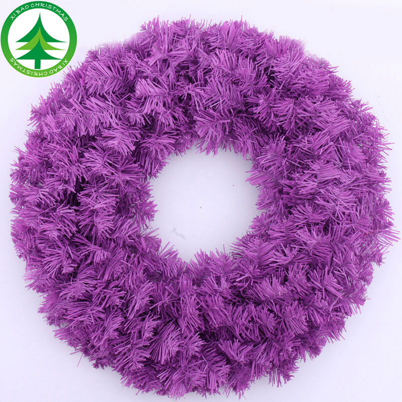 xibao brand wholesale artificial purple christmas rattan Wreath <strong>decoration</strong> Color and size customize picks christmas wreath