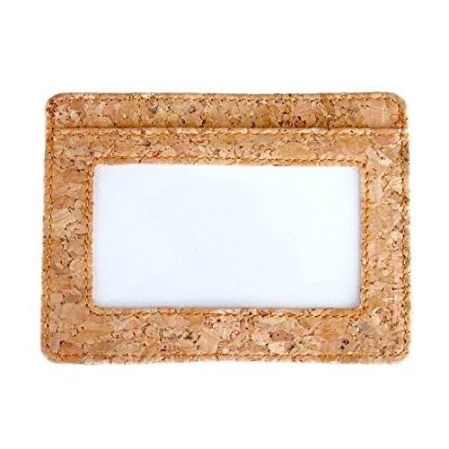 Eco-friendly Vegan Cork Leather Wallet Magnetic Money Clip Wallet RFID Security Card Holder Wallet