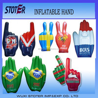 customized shape and logo inflatable hand for advertisement