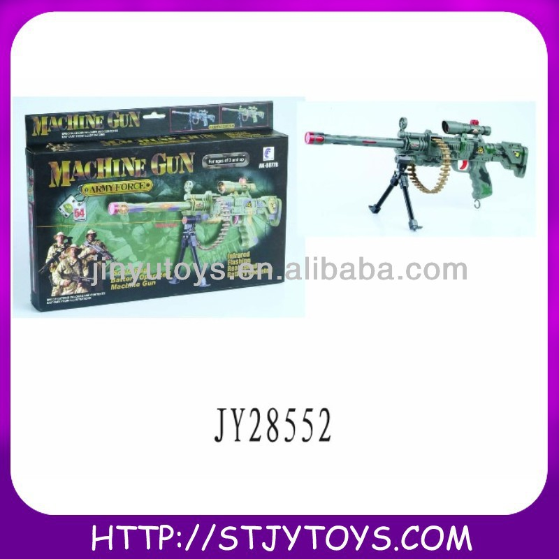 Plastic sniper rifle toy gun with infrared & vibration