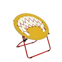 Foldable lawn round bungee chair