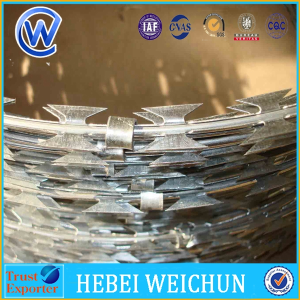 SS304 razor barbed wire stainless steel razor wire SS concertina barbed razor wire