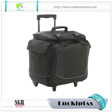 Large capacity insulated trolley picnic wine cooler bag with wheels