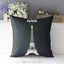 soft sofa pillow,Eiffel tower print sublimation throw pillow cover